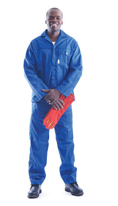 workwear holding gloves
