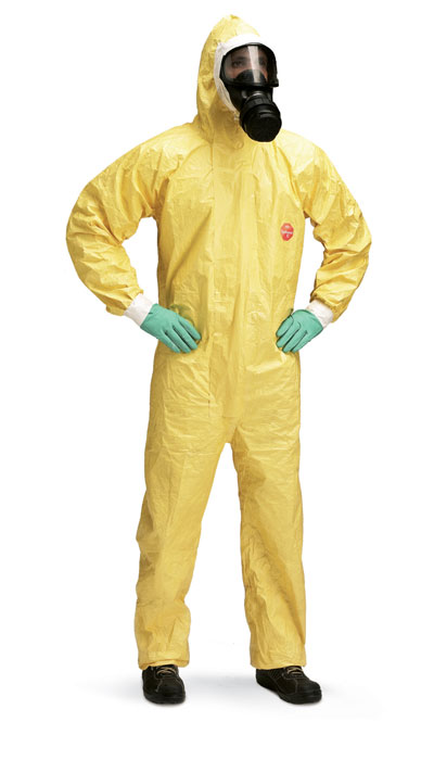 tychem yellow suit