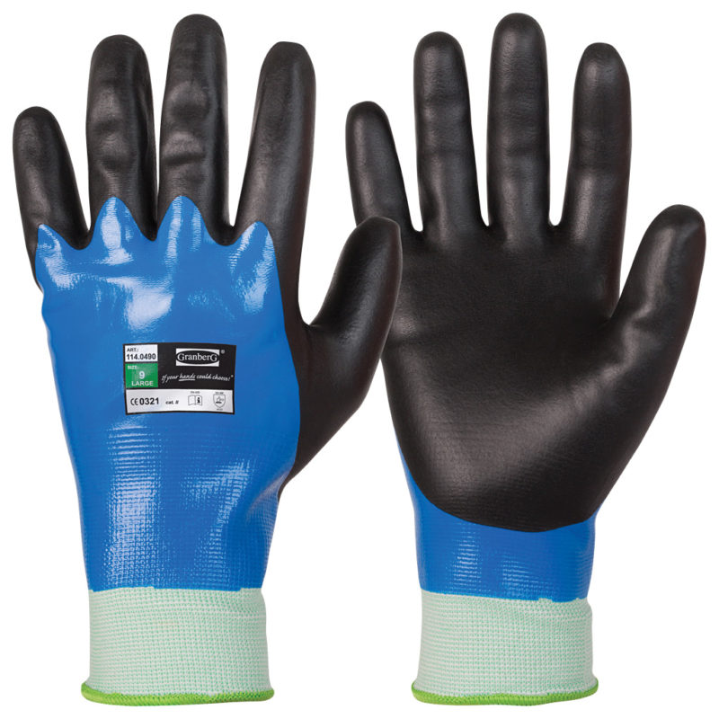 granberg blue and black assembly gloves
