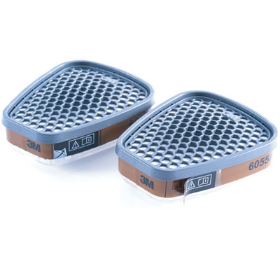 3m respiratory cartridge with indicator