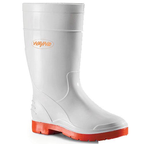 wayne footwear calf length white gumboot