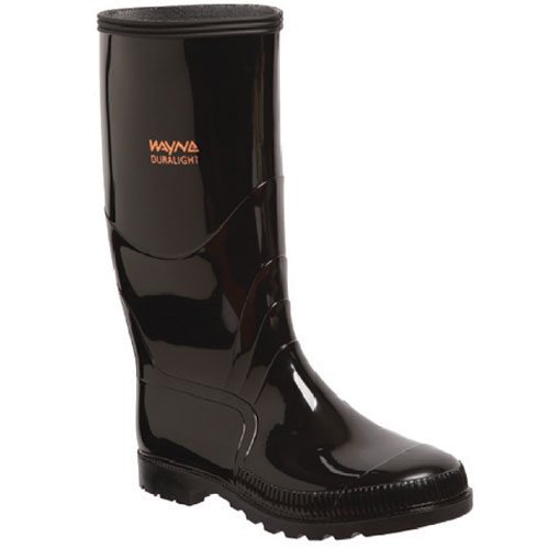 wayne footwear duralight black gumboot