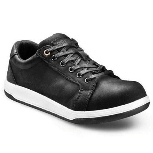 bronx plain black safety sneaker safety footwear