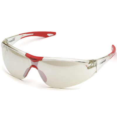 red and white clear safety spectacle