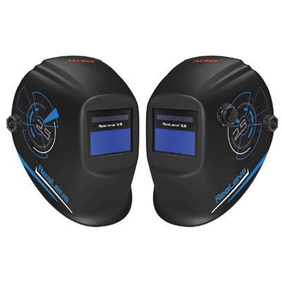 auto-darkening black welding helmet