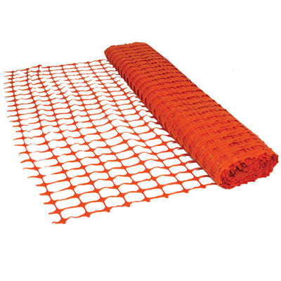 red barrier netting