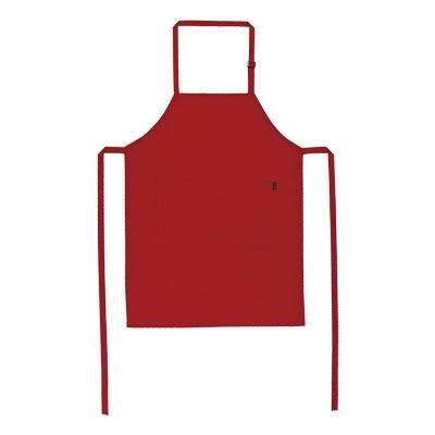 red bib apron