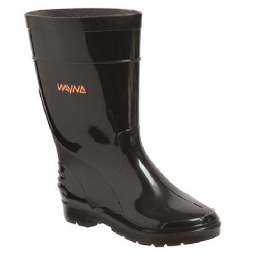 wayne footwear calf length black gumboot