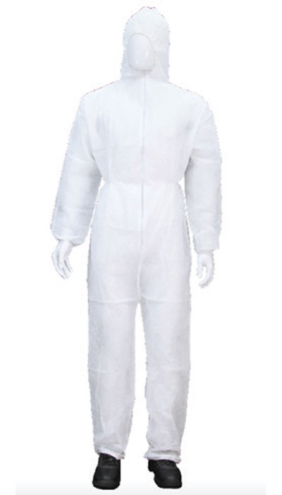 disposable coverall white