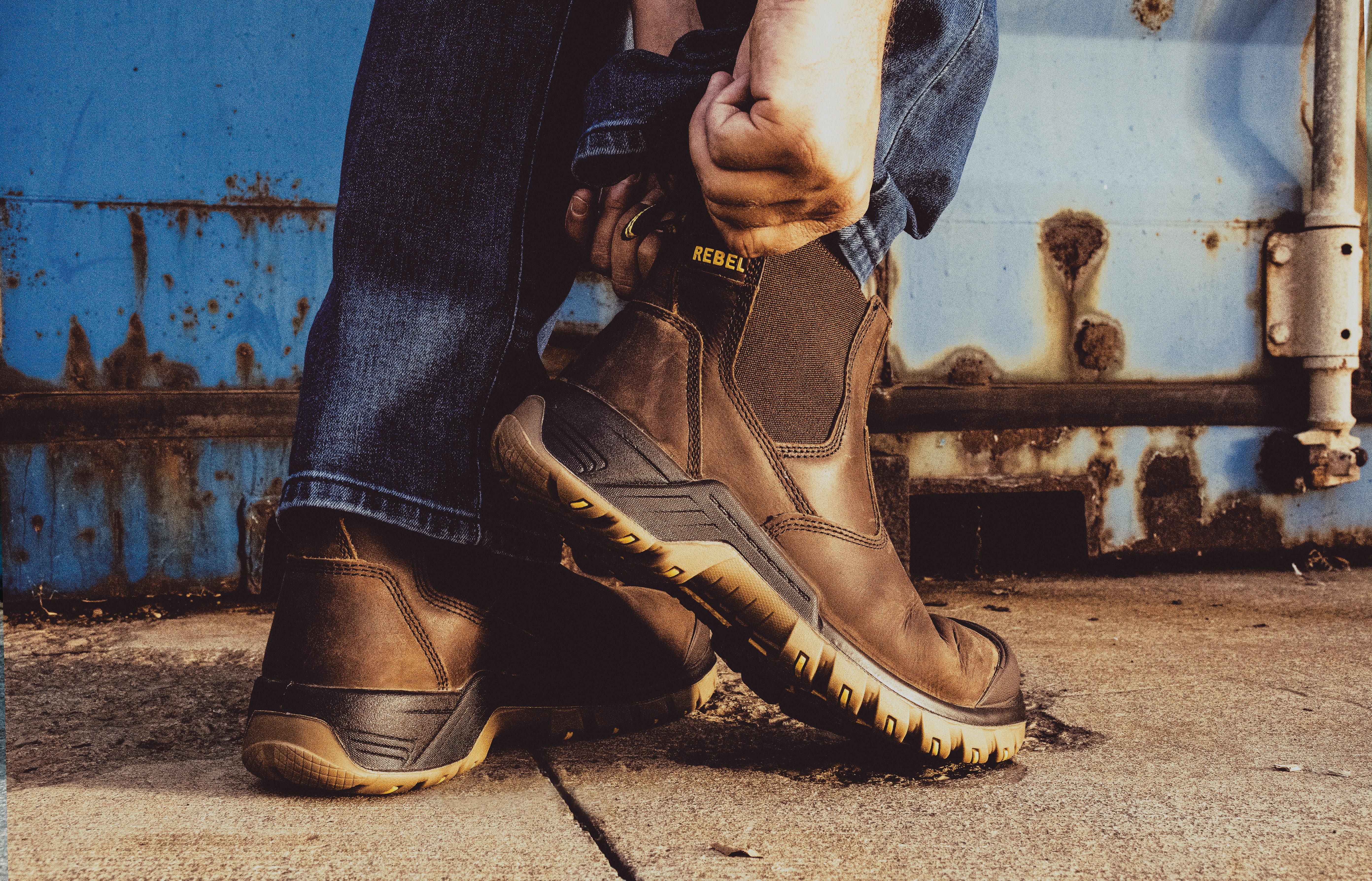 rebel footwear action image