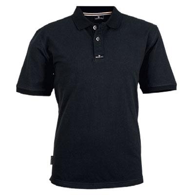 black golf shirt