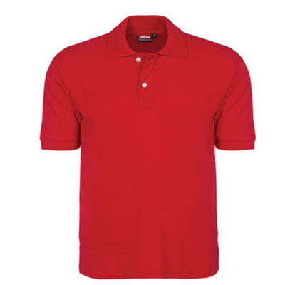 corporate clothing red golf shirt