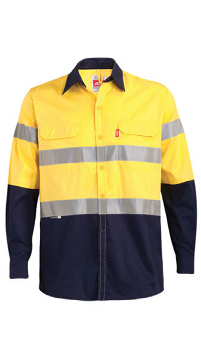 yellow hi viz workwear shirt