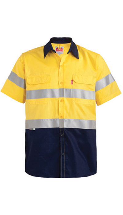 yellow hi-viz workwear shirt