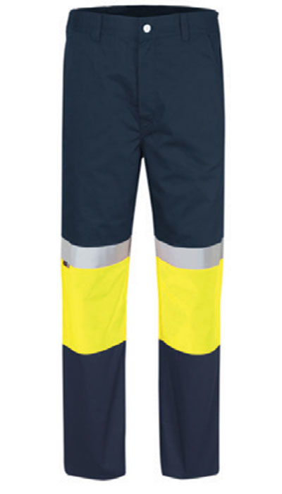 yellow hi-viz workwear trousers