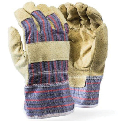 pigskin candy stripe gloves