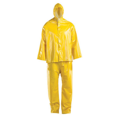 yellow rain suit