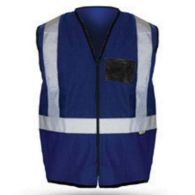 blue reflective vest