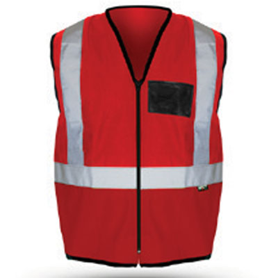 red reflective vest