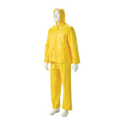 yellow rubberised suit