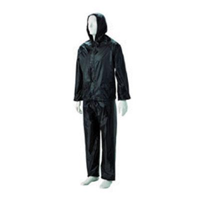 black rubberised suit