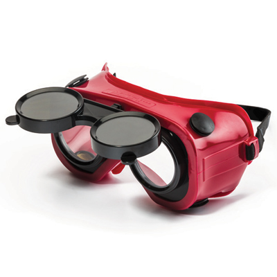 dromex red welding goggle