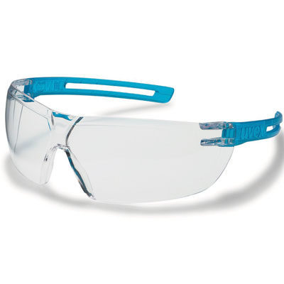 uvex xfit blue safety spectacles