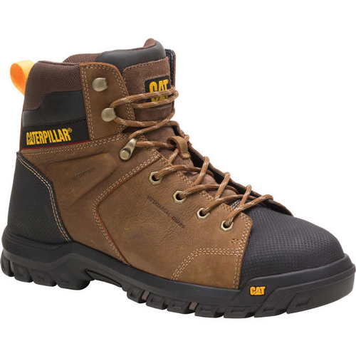 caterpillar wellspring brown safety boot