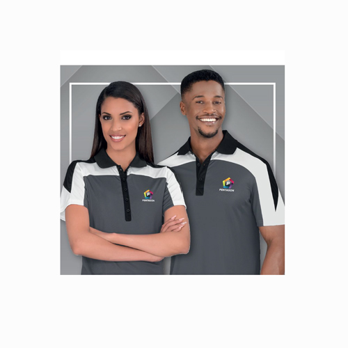 woman and man in corporate clothing