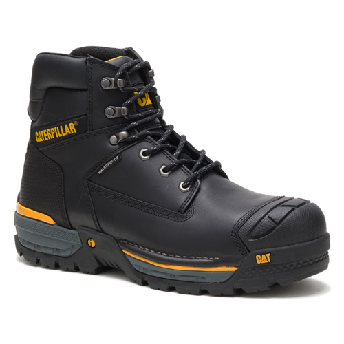 cat excavator black safety boot