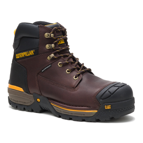 cat excavator brown safety shoe