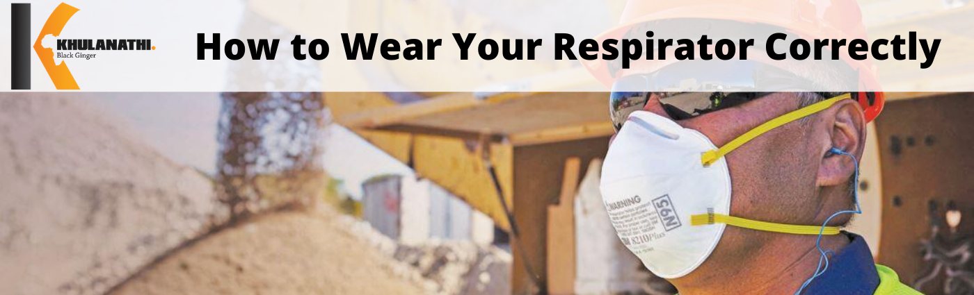 how to wear your respirator correctly. Man wearing N95 mask