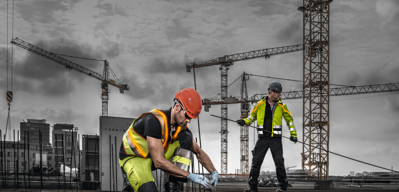 two men in industry wearing ppe by uvex