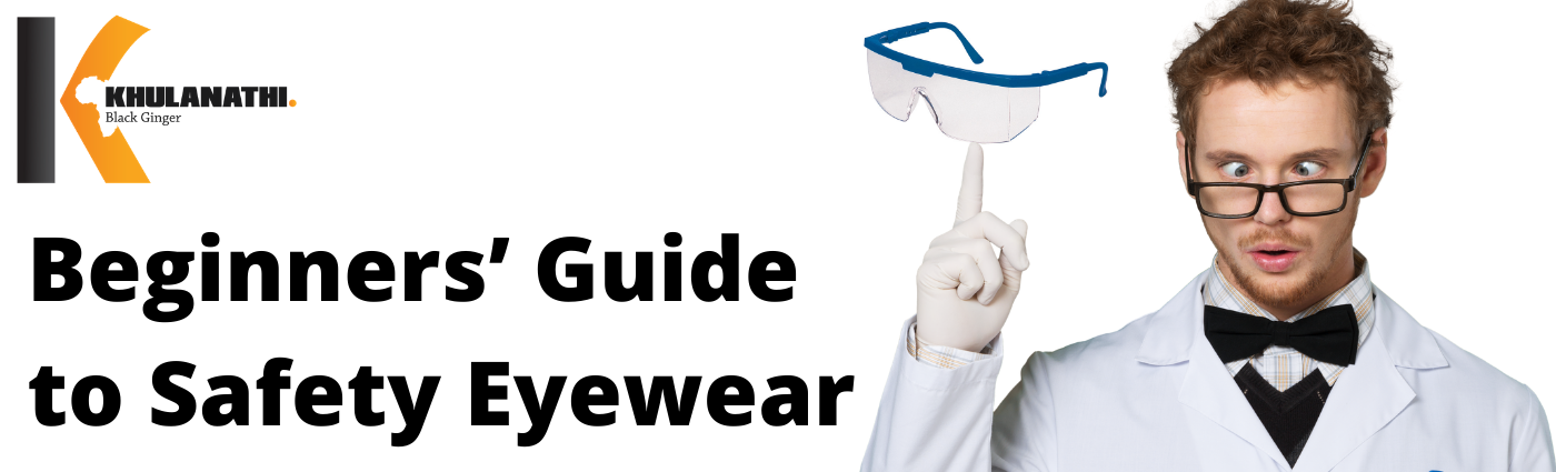 man wearing a lab coat with an idea about safety eyewear