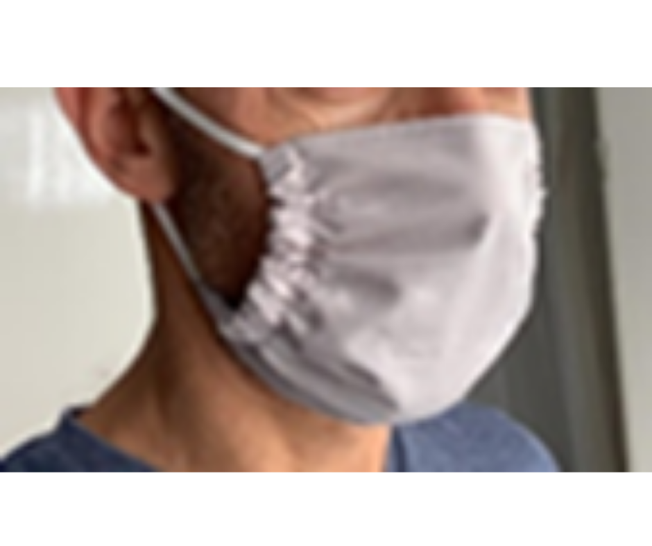 antimicrobial face mask on a man