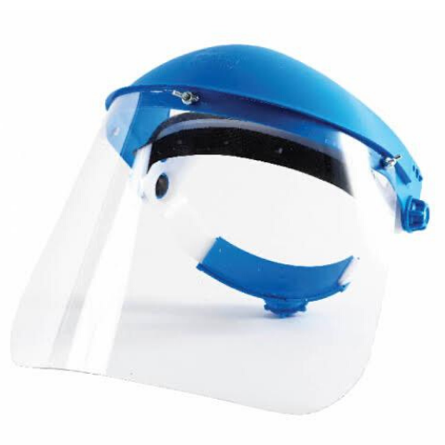 face shield with brow guard
