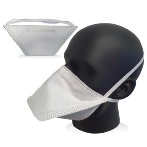 FFP2 duckbill mask on a mannequin head